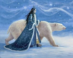 Снежната царкиня и мечока